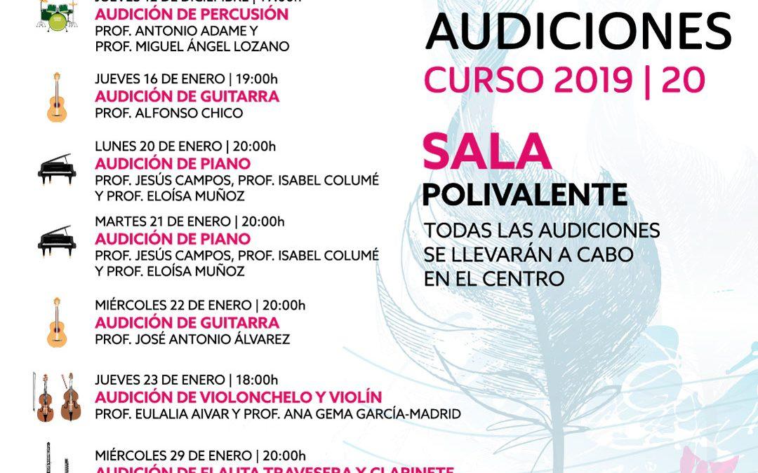 Ciclo Audiciones Curso 2019-20 Conservatorio Isla Cristina
