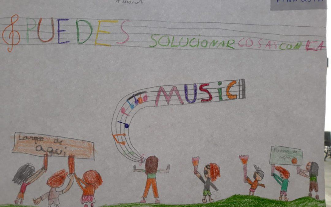 Celebramos el día de la paz con música y dibujos
